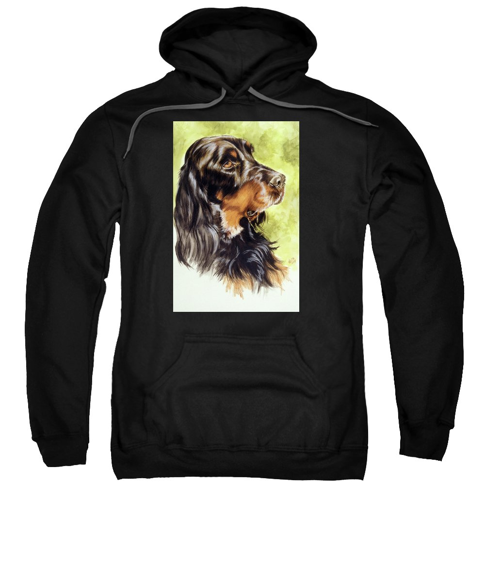 Sporting Group Sweatshirt featuring the painting Gordon Setter by Barbara Keith