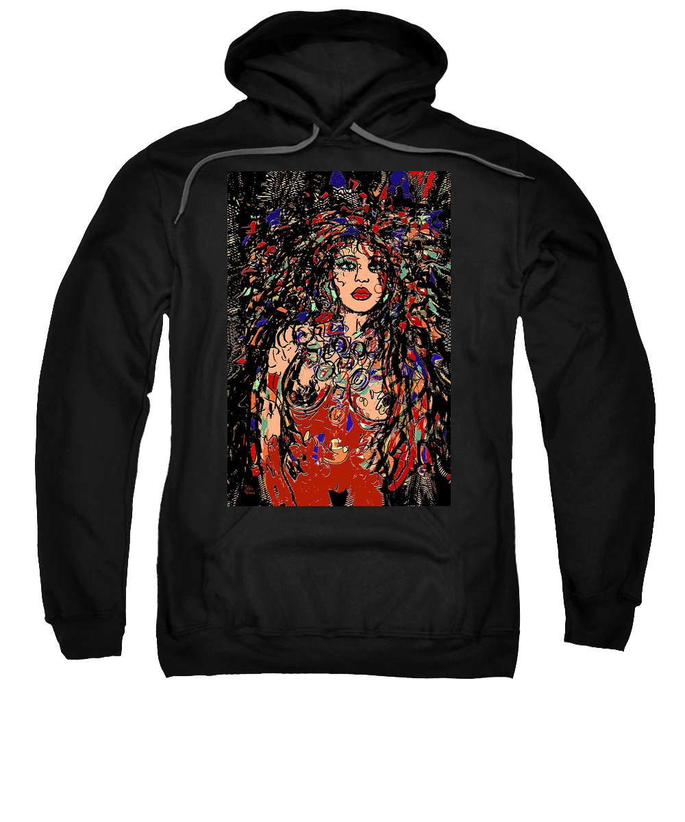 Gorgeous Woman Sweatshirt featuring the mixed media Gorgeous by Natalie Holland