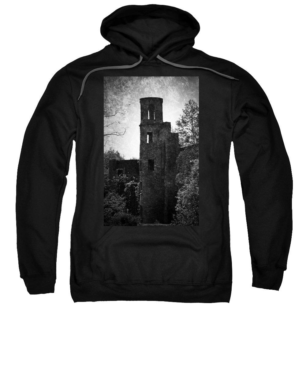 Irish Sweatshirt featuring the photograph Gothic Tower At Blarney Castle Ireland by Teresa Mucha