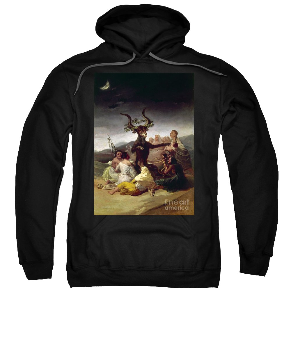 1795 Sweatshirt featuring the photograph Goya: Witches Sabbath by Granger