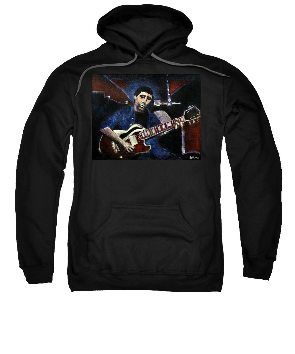 Shining Guitar Sweatshirt featuring the painting Graceland Tribute To Paul Simon by Seth Weaver