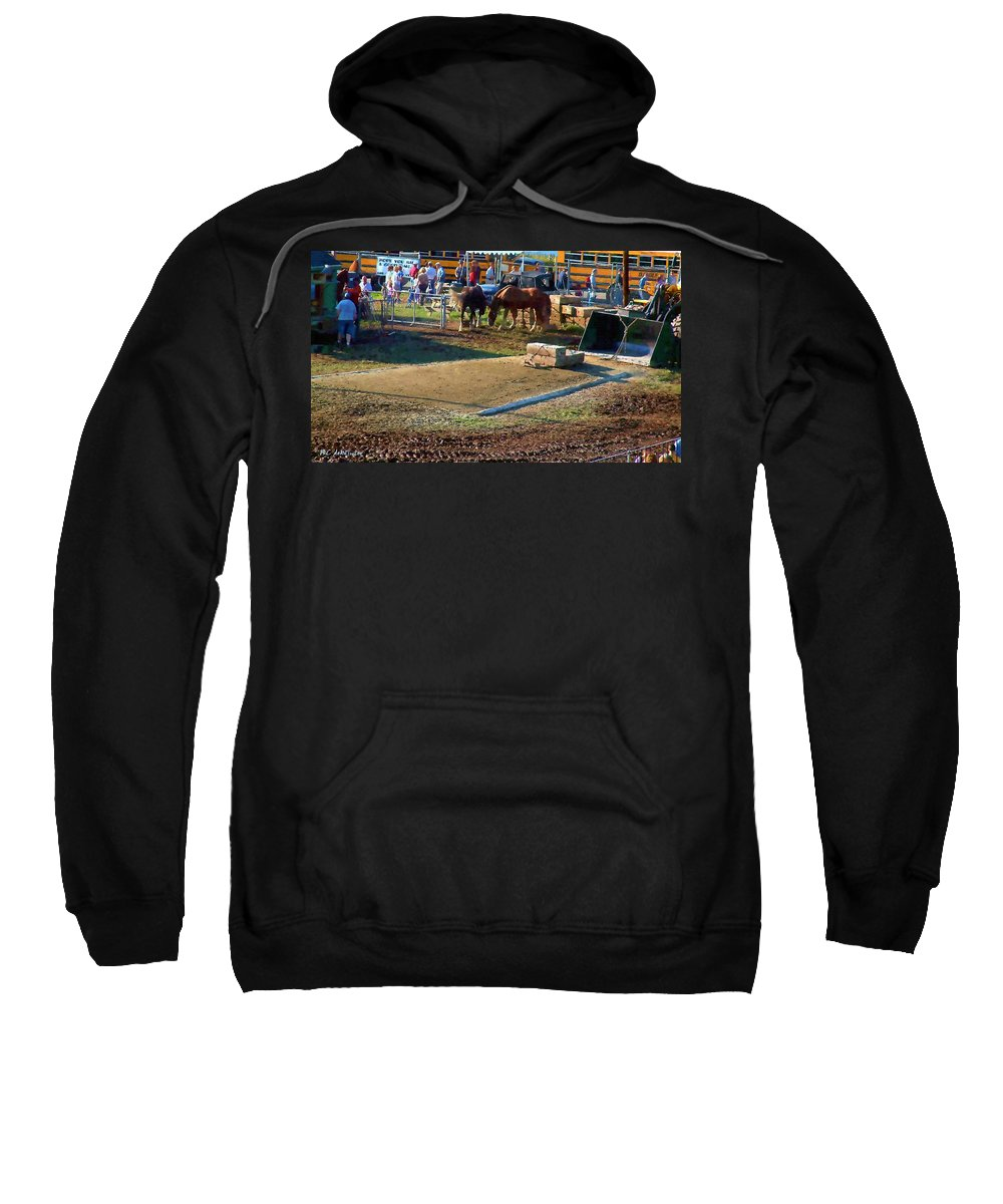 Agricultural Sweatshirt featuring the painting Grading The Ring by RC DeWinter
