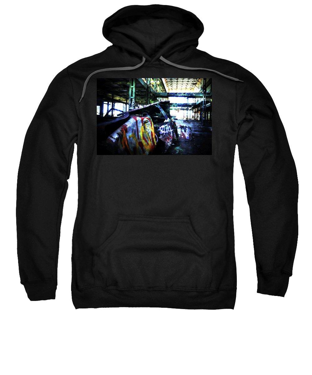Graffiti Sweatshirt featuring the photograph Graffiti Car by Phill Petrovic