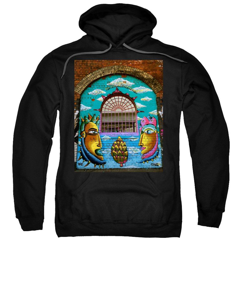 Street Art Sweatshirt featuring the photograph Graffiti Window by Caroline Reyes-Loughrey