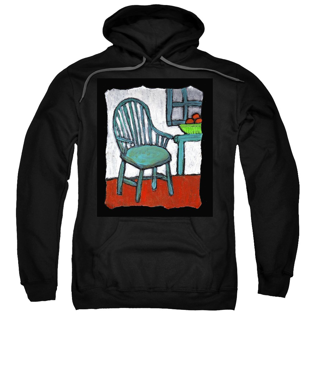 Chair Sweatshirt featuring the painting Grampa's Empty Chair by Wayne Potrafka