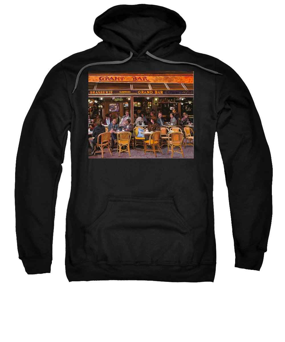 Brasserie Sweatshirt featuring the painting Grand Bar by Guido Borelli