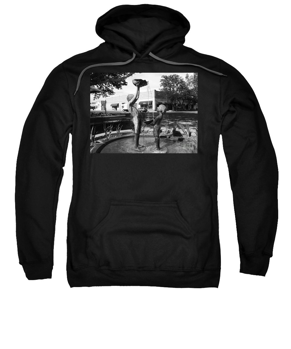 Children Playing Sculpture Sweatshirt featuring the photograph Grand Junction Co by Tommy Anderson