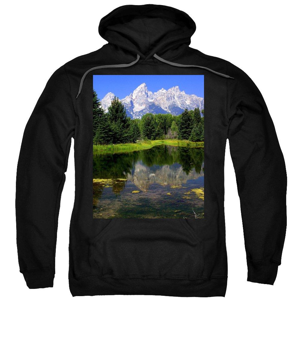 Grand Teton National Park Sweatshirt featuring the photograph Grand Tetons 2 by Marty Koch