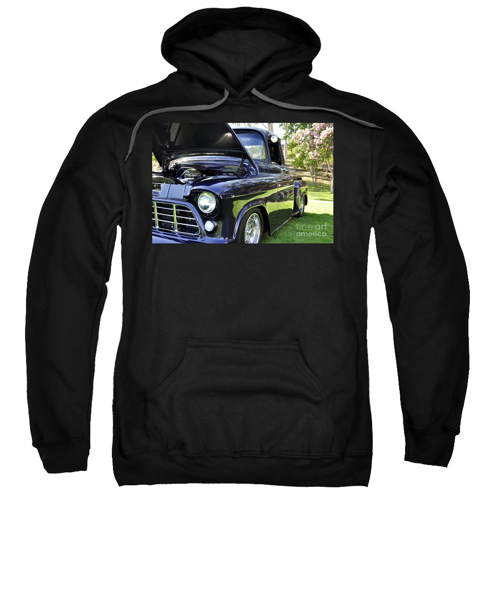 Clay Sweatshirt featuring the photograph Grape Fully Blown Pickup by Clayton Bruster