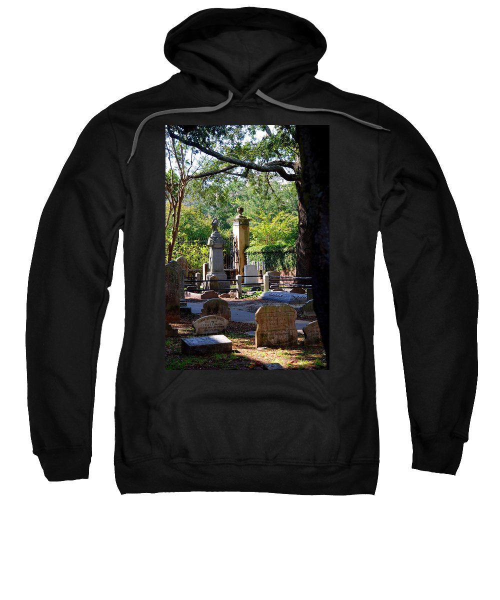 Photography Sweatshirt featuring the photograph Graveyard In Charleston by Susanne Van Hulst