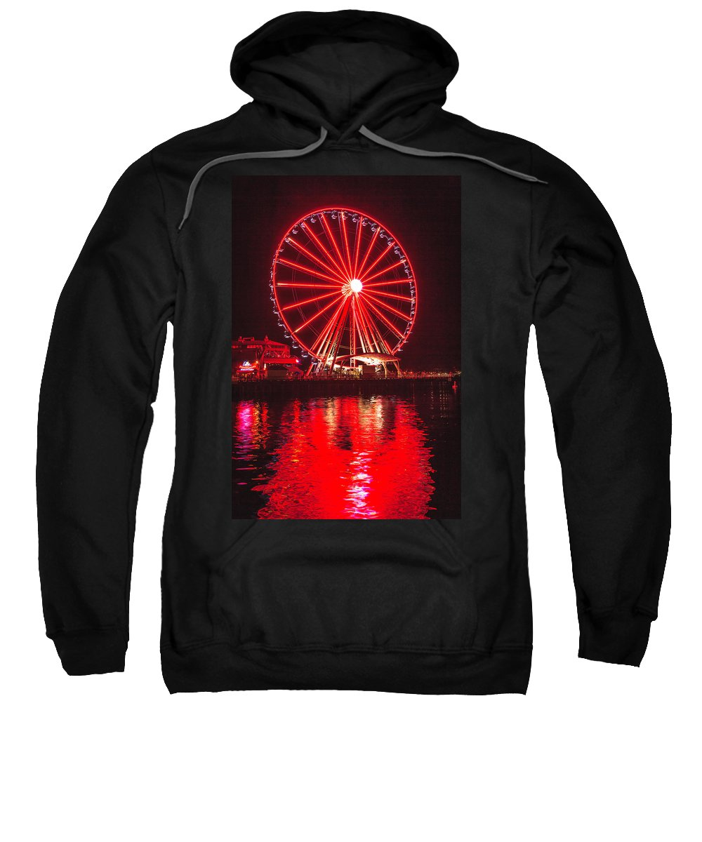 Seattle Sweatshirt featuring the photograph Great Wheel 191 by Mike Penney