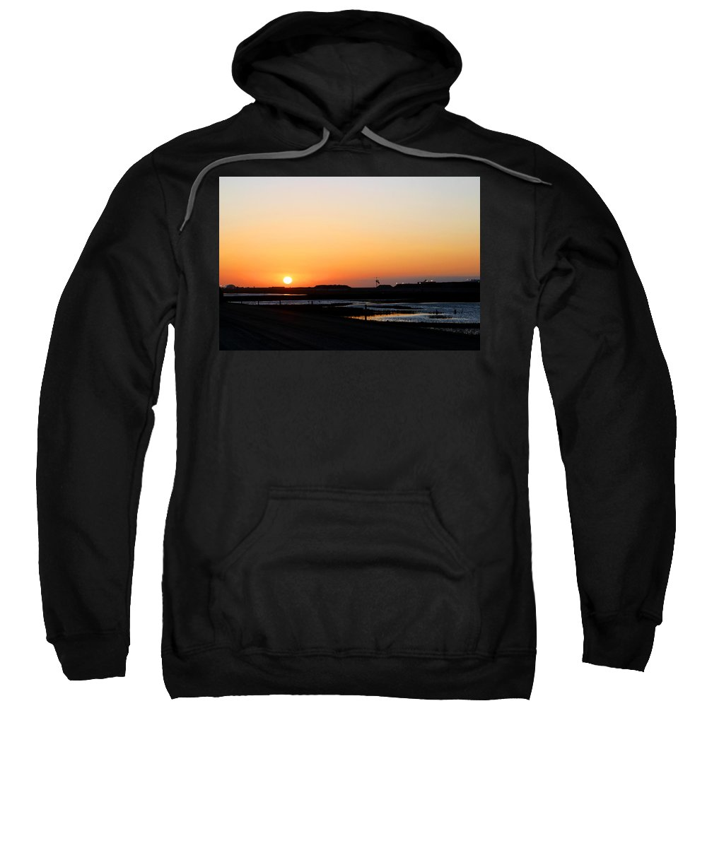 Landscape Sweatshirt featuring the photograph Greater Prudhoe Bay Sunrise by Anthony Jones