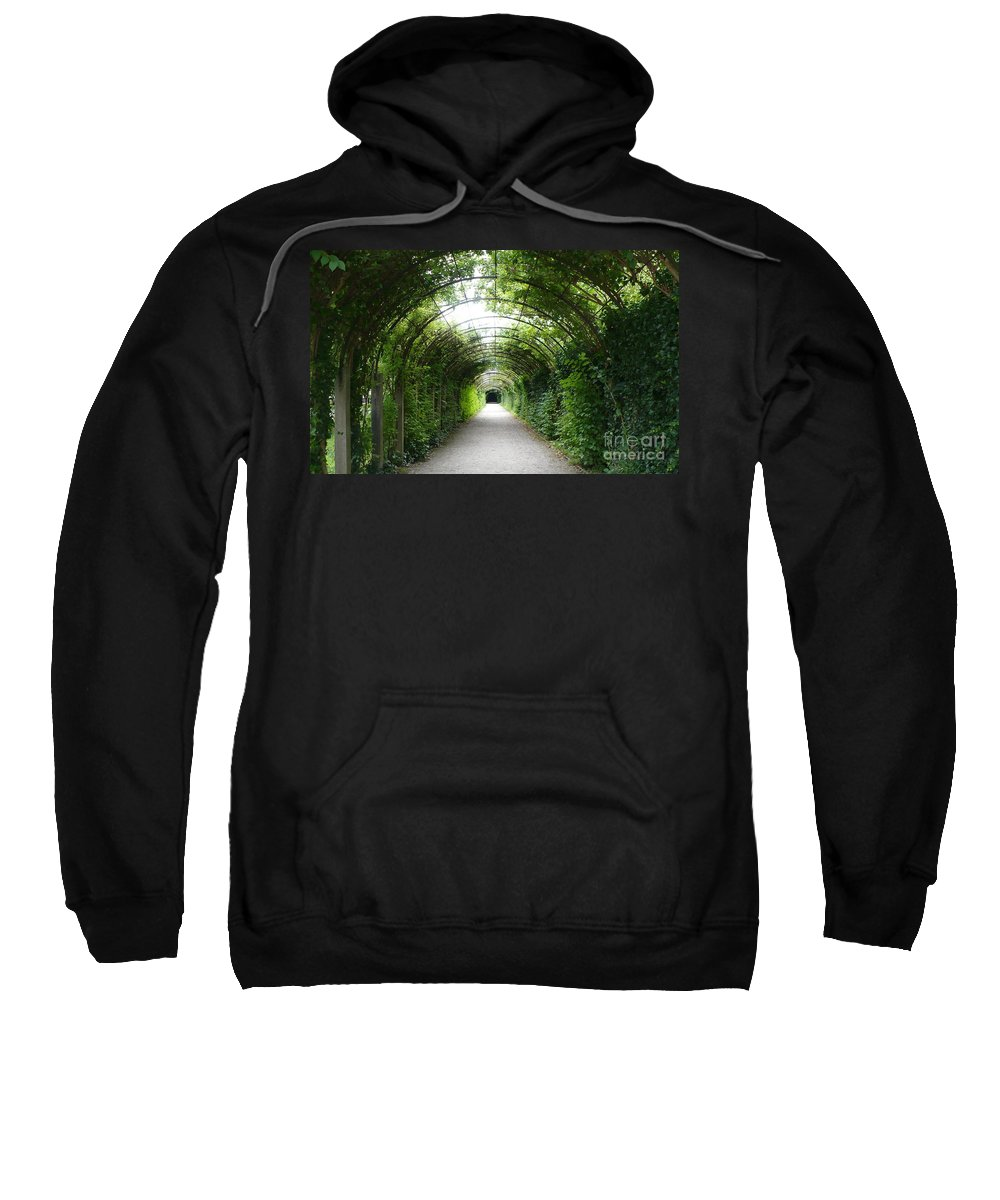 Arbor Sweatshirt featuring the photograph Green Arbor Of Mirabell Garden by Carol Groenen
