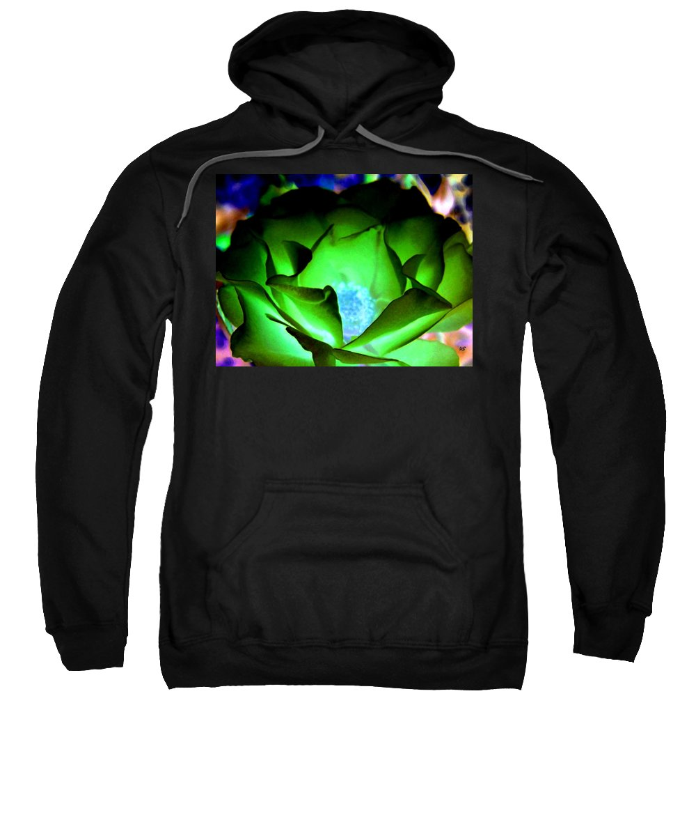 Rose Sweatshirt featuring the digital art Green Glow by Will Borden