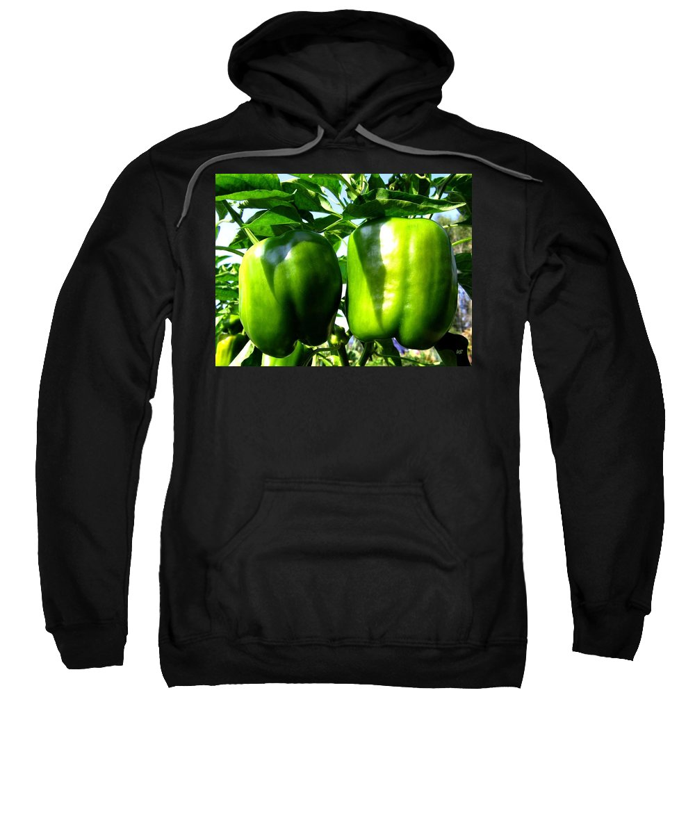 Green Peppers Sweatshirt featuring the photograph Green Peppers by Will Borden