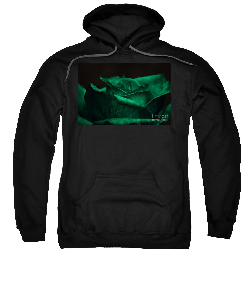 Clay Sweatshirt featuring the photograph Green Rose by Clayton Bruster