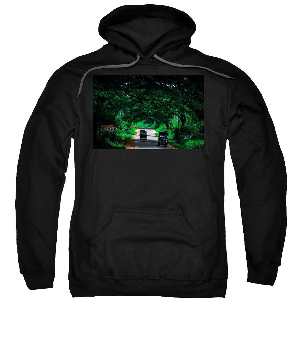 Streets Sweatshirt featuring the photograph Greenery by Nadir Khan