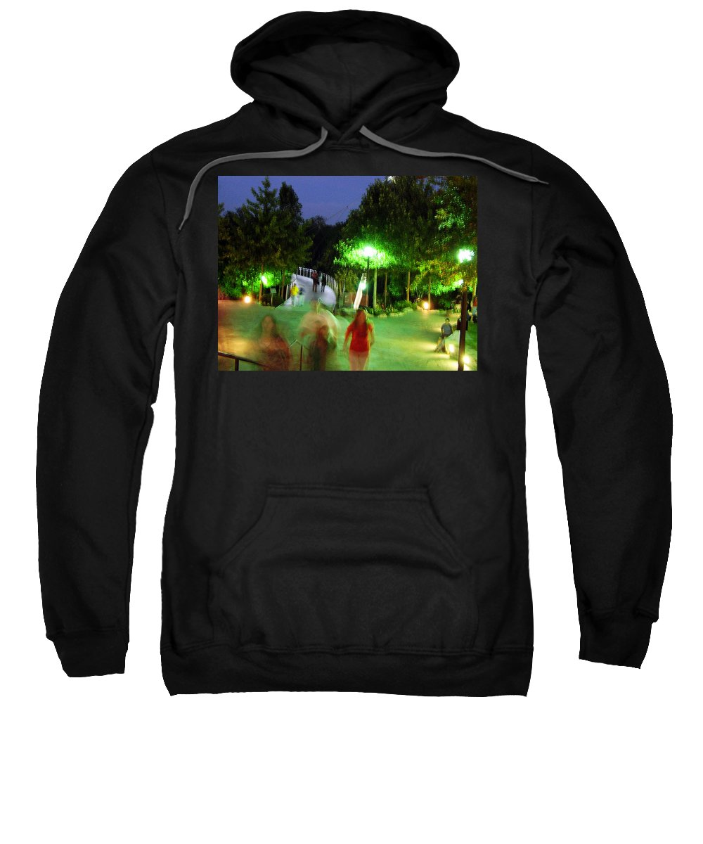 Falls Park Sweatshirt featuring the photograph Greenville At Night by Flavia Westerwelle