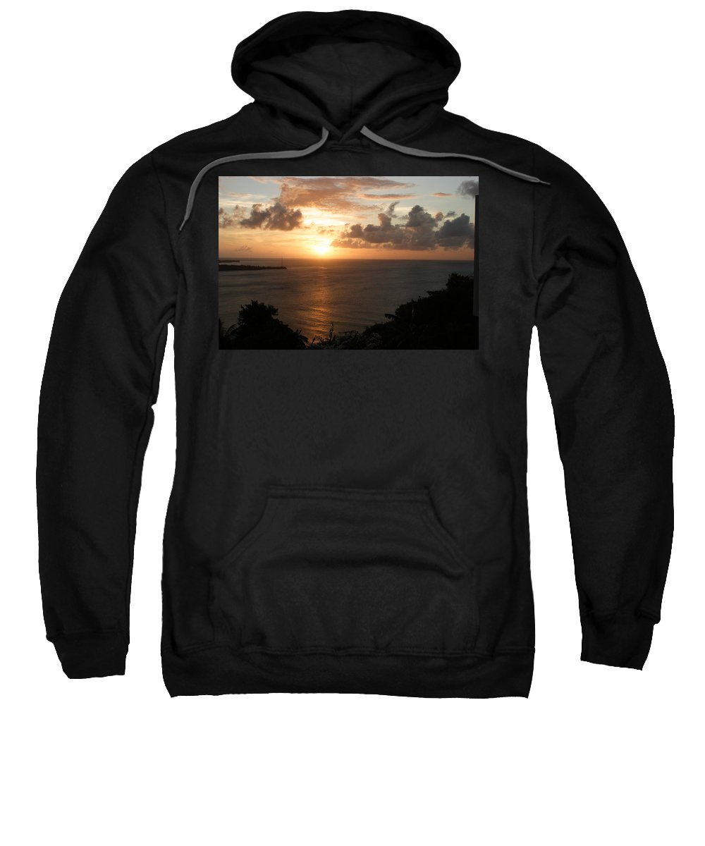 Grenada Sweatshirt featuring the photograph Grenadian Sunset I by Jean Macaluso