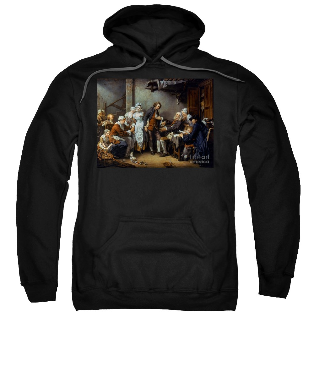 18th Century Sweatshirt featuring the photograph Greuze: The Village Bride by Granger