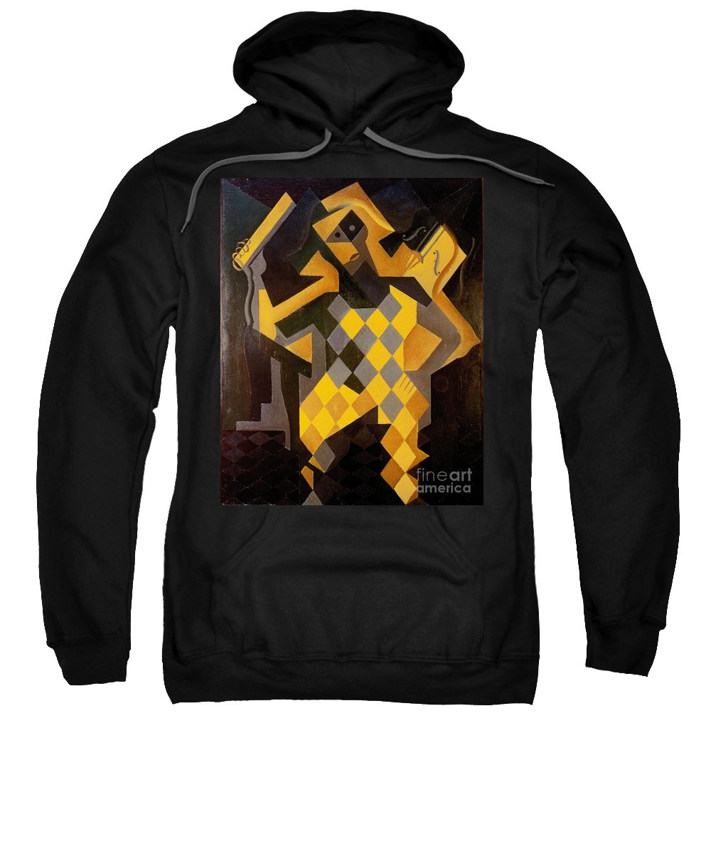 1919 Sweatshirt featuring the photograph Gris: Harlequin by Granger