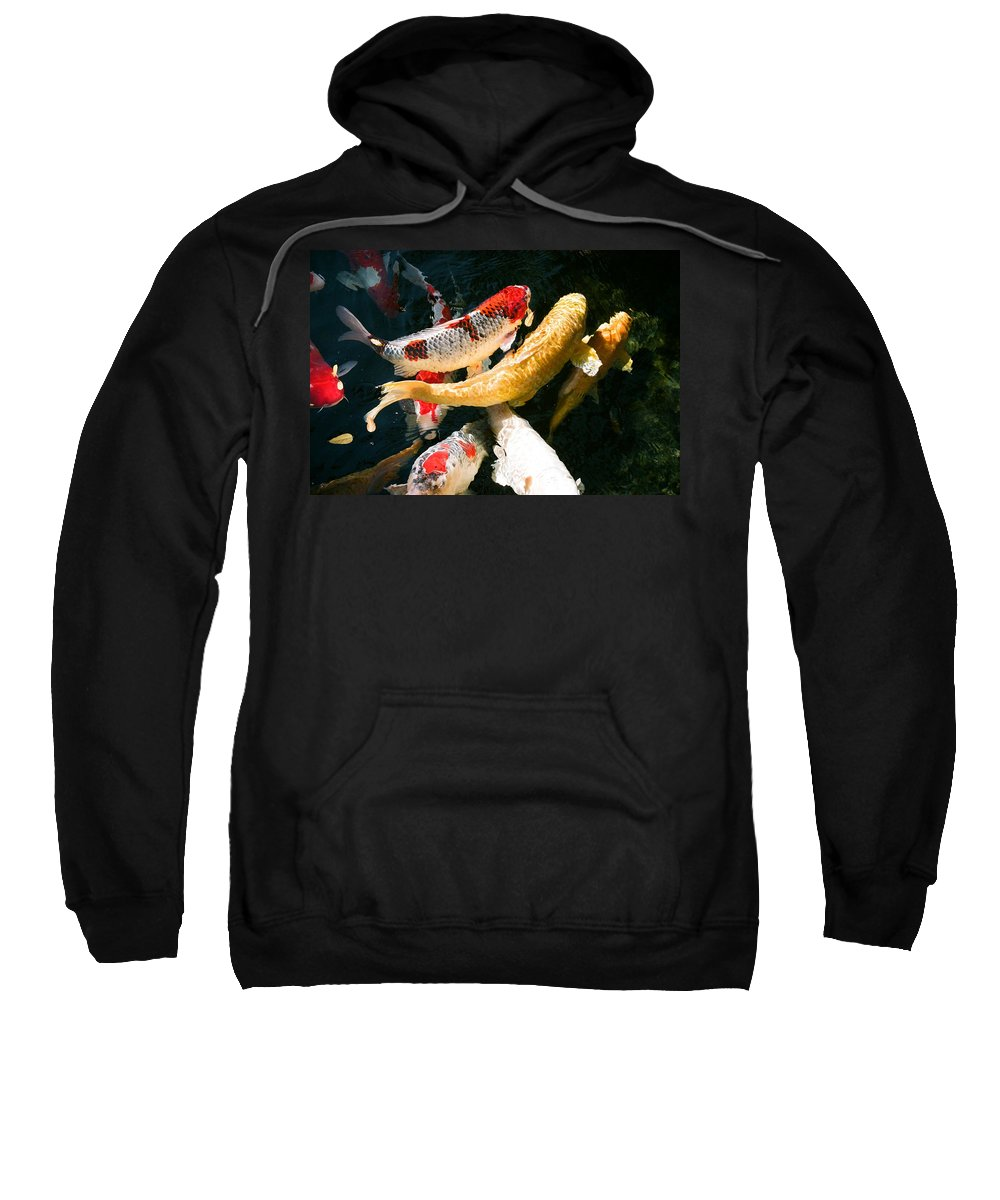 Fish Sweatshirt featuring the photograph Group Of Koi Fish by Dean Triolo