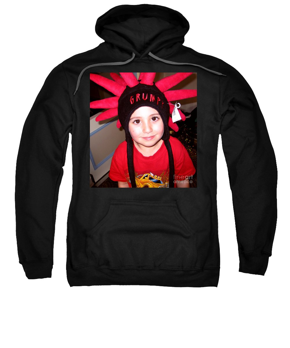 Child Sweatshirt featuring the photograph Grumpy by Rhonda Chase