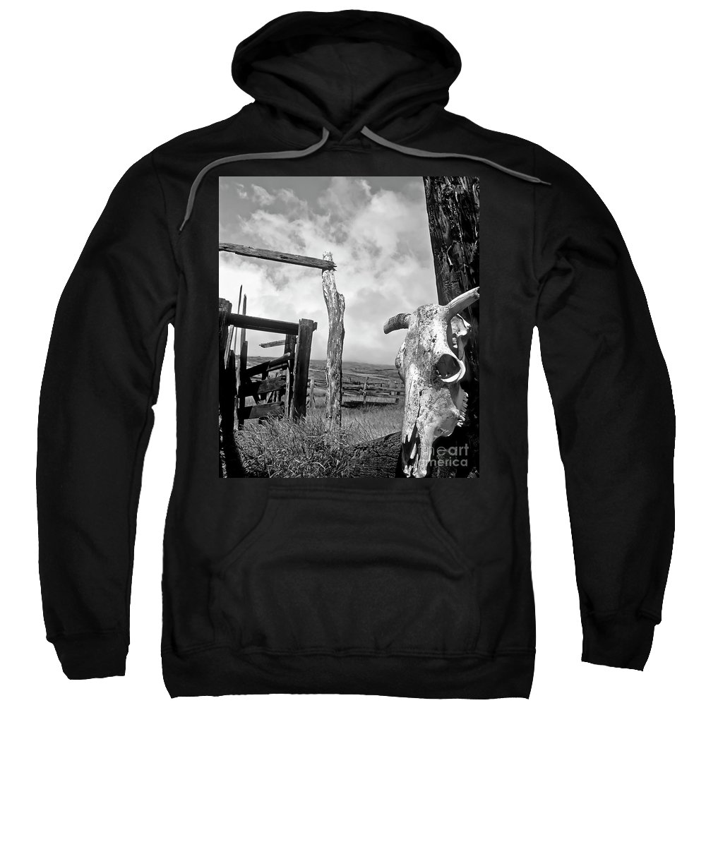 Black And White Sweatshirt featuring the photograph Guardian Spirit by Jim Cazel