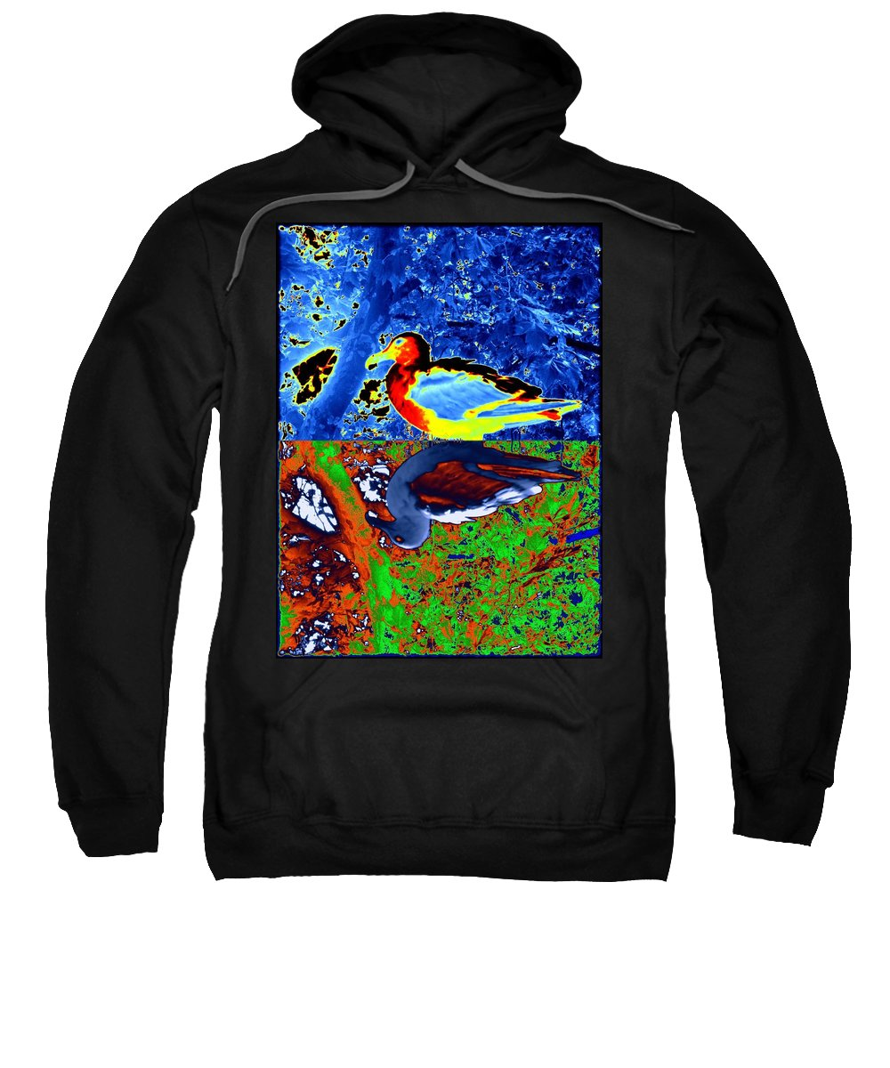 Seagull Sweatshirt featuring the digital art Gulls by Tim Allen