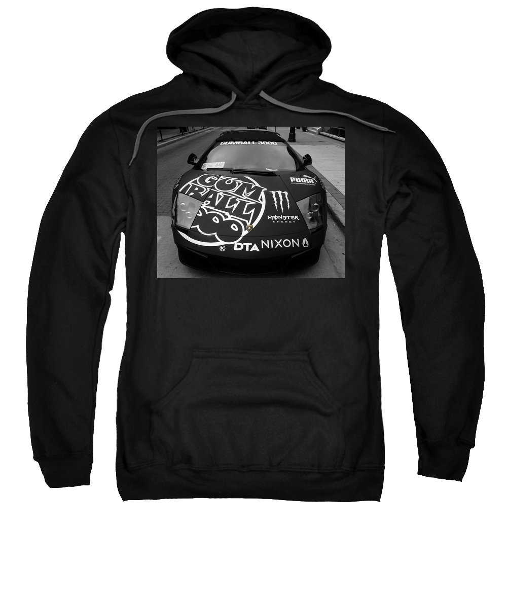 Gumball 3000 Sweatshirt featuring the photograph Gumball Rally Lamborghini by Andrew Fare