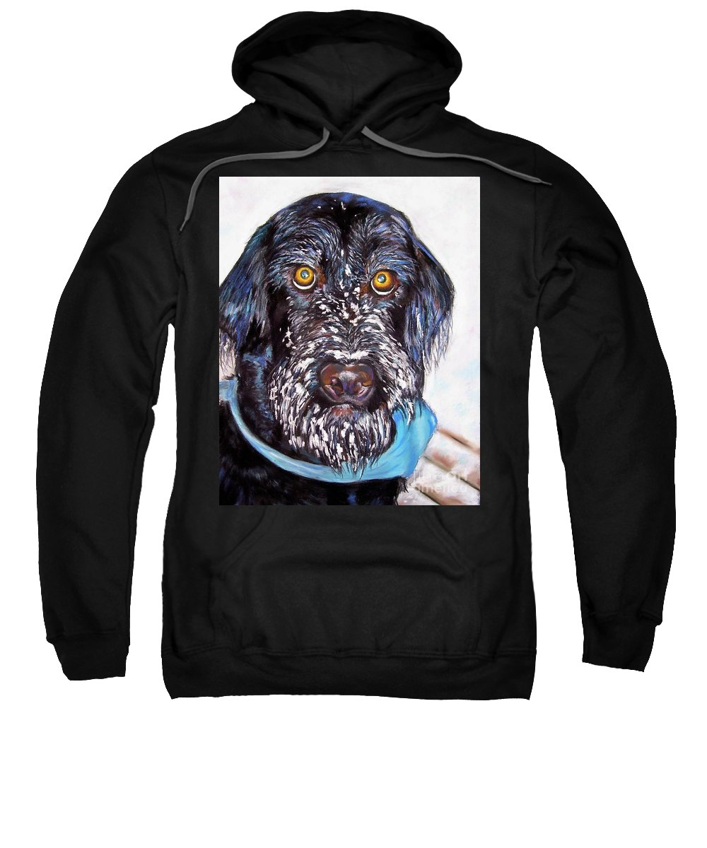 Dog Sweatshirt featuring the painting Gus by Frances Marino