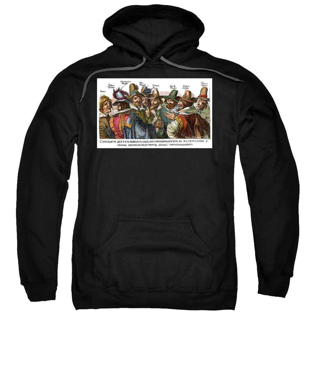 1605 Sweatshirt featuring the drawing Guy Fawkes, 1570-1606 by Granger