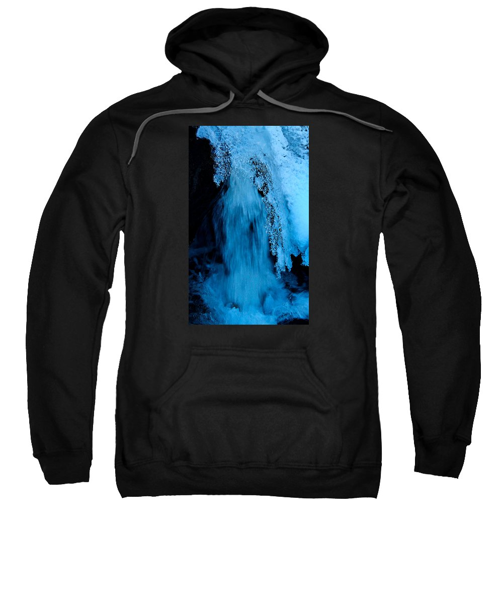Water Sweatshirt featuring the photograph H2O by Sean Sarsfield
