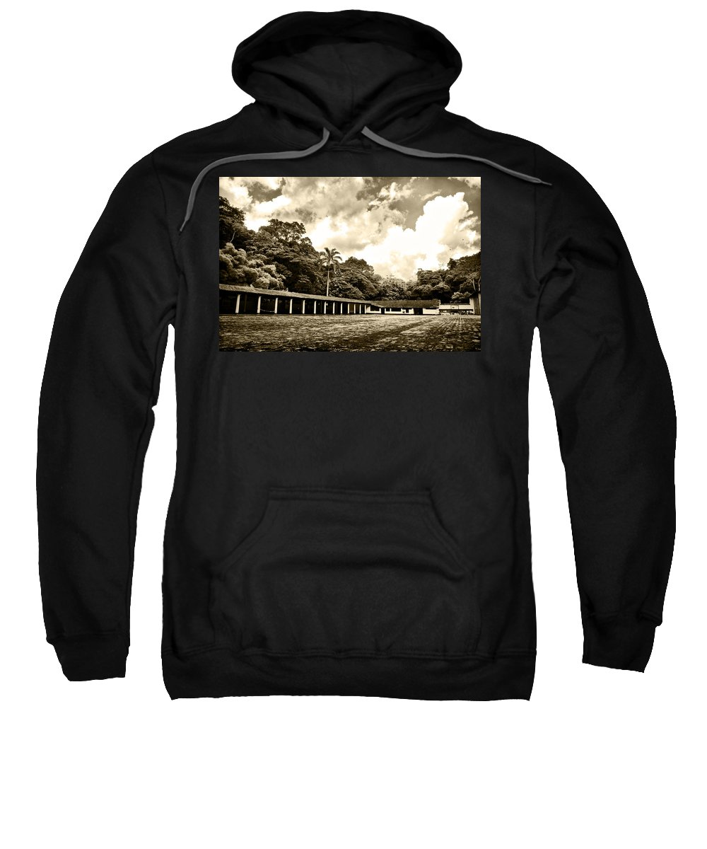 Colonial House Sweatshirt featuring the photograph Hacienda La Elvira by Galeria Trompiz