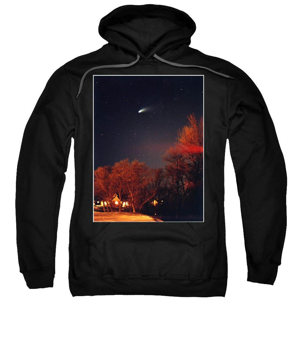 Comet Sweatshirt featuring the photograph Hale-bopp Comet by Nancy Mueller