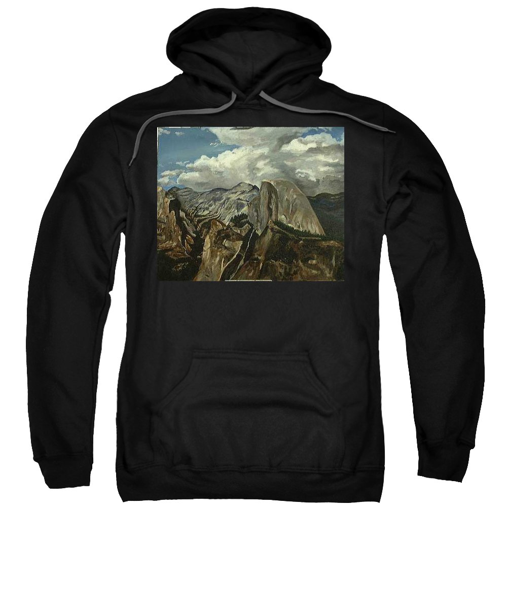Sweatshirt featuring the painting Half Dome by Travis Day