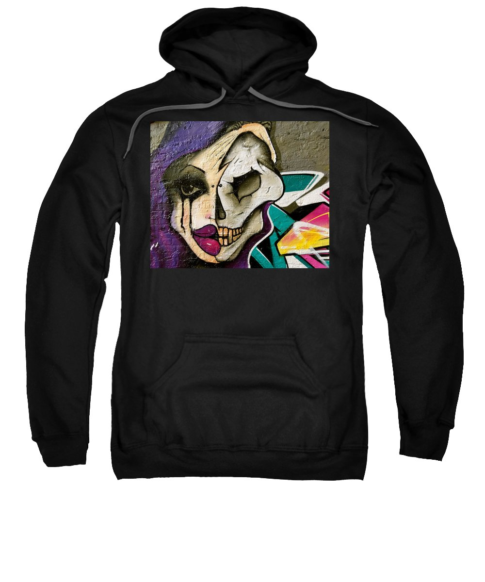 Street Art Sweatshirt featuring the photograph Half Truth by Caroline Reyes-Loughrey