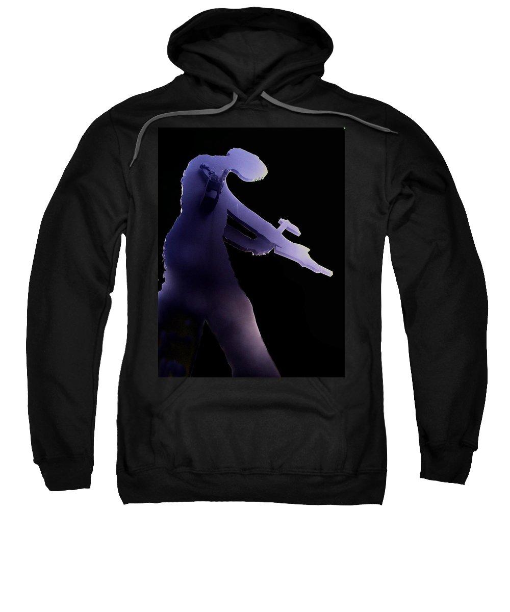 Seattle Sweatshirt featuring the digital art Hammering Man 2 by Tim Allen