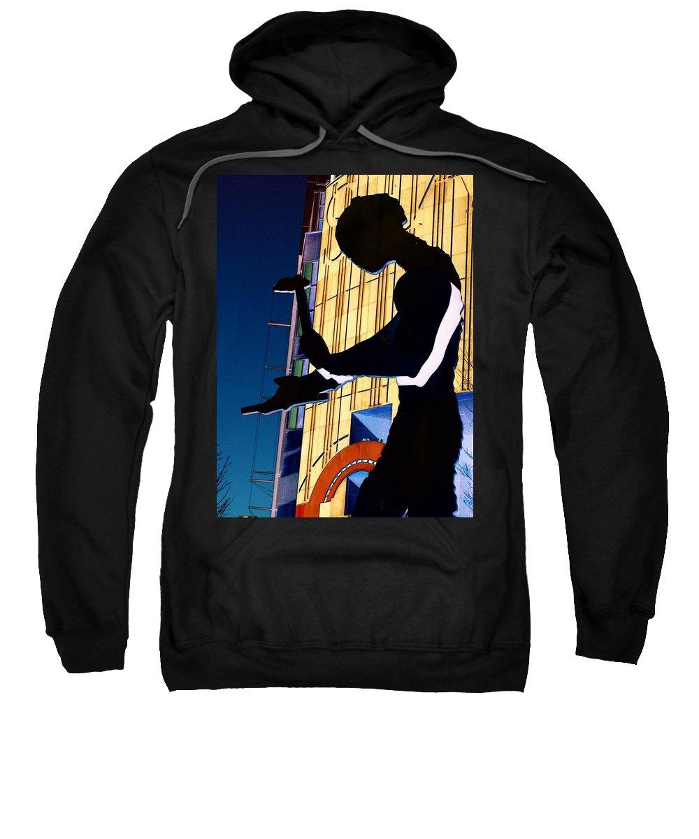 Seattle Sweatshirt featuring the digital art Hammering Man by Tim Allen