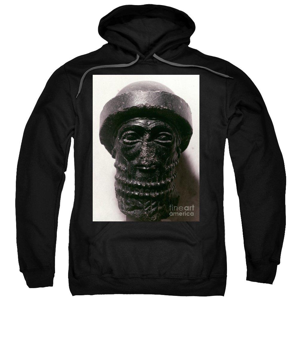 1750 B.c. Sweatshirt featuring the photograph Hammurabi (d. 1750 B.c.) by Granger