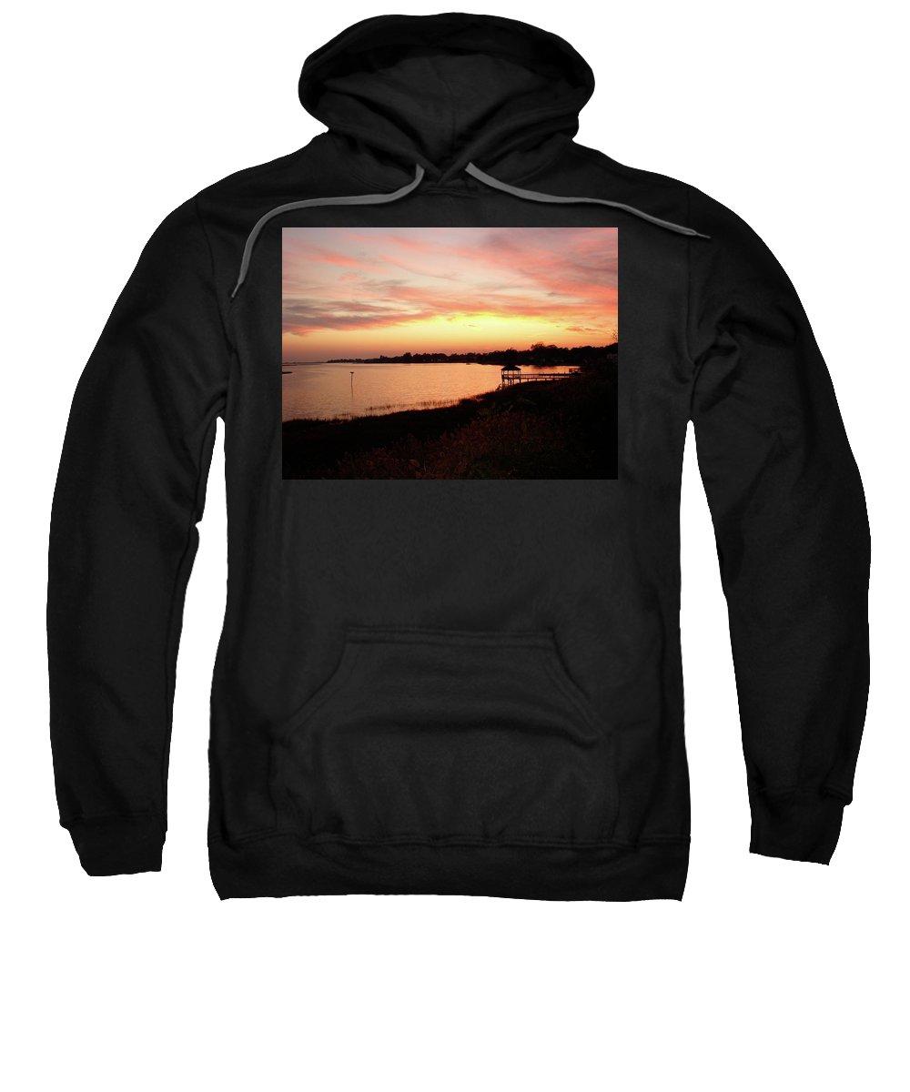 Hampton Sweatshirt featuring the photograph Hampton Virginia Sunset by Brett Winn
