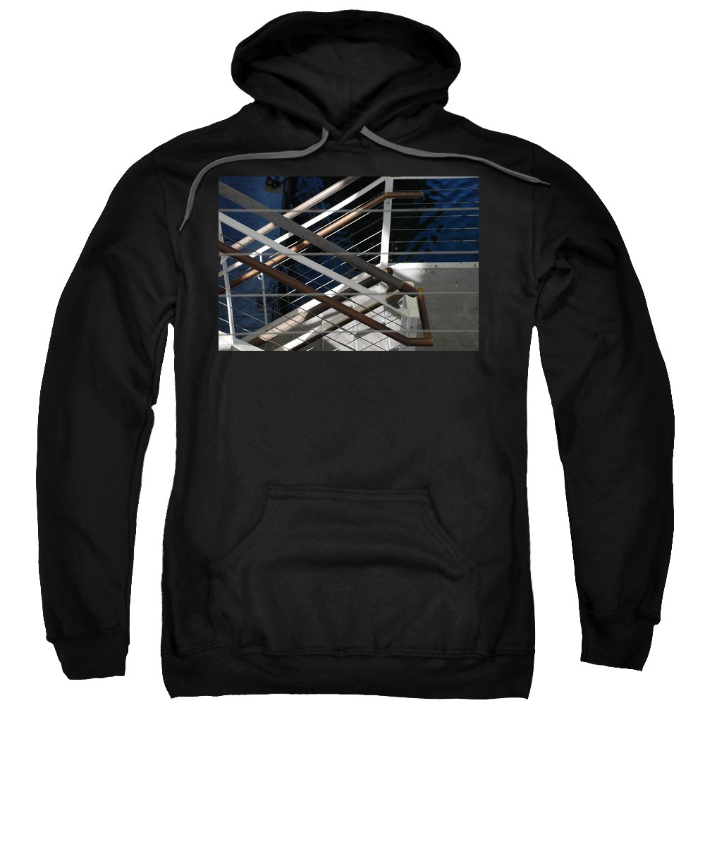 Water Sweatshirt featuring the photograph Hand Rails by Rob Hans