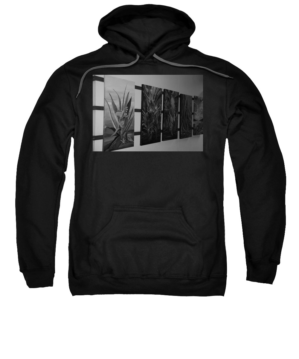 Black And White Sweatshirt featuring the photograph Hanging Art by Rob Hans