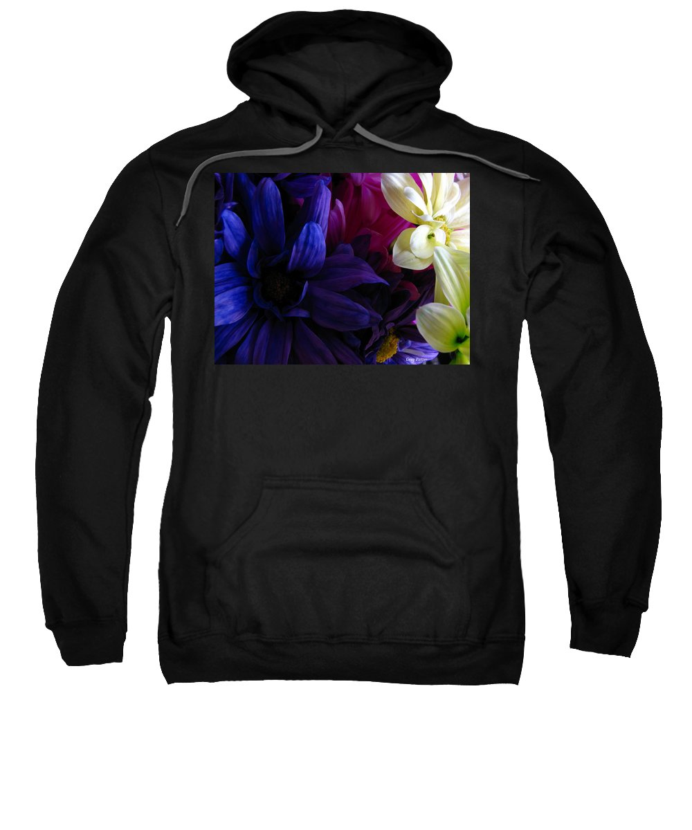 Patzer Sweatshirt featuring the photograph Happy Flowers by Greg Patzer