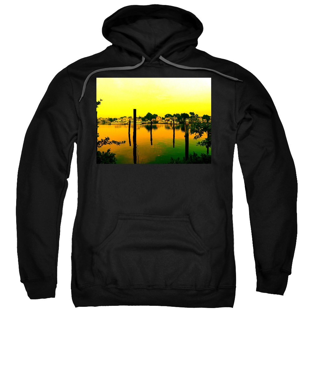 Waterscape Sweatshirt featuring the photograph Happy Homes by Kendall Eutemey