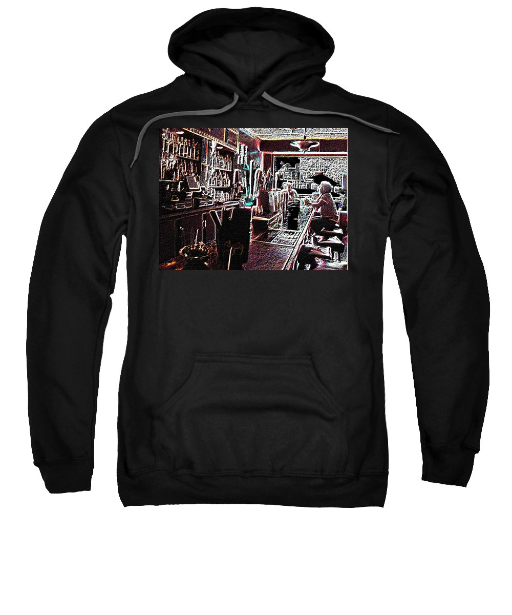 Bar Sweatshirt featuring the photograph Happy Hour by Tim Allen