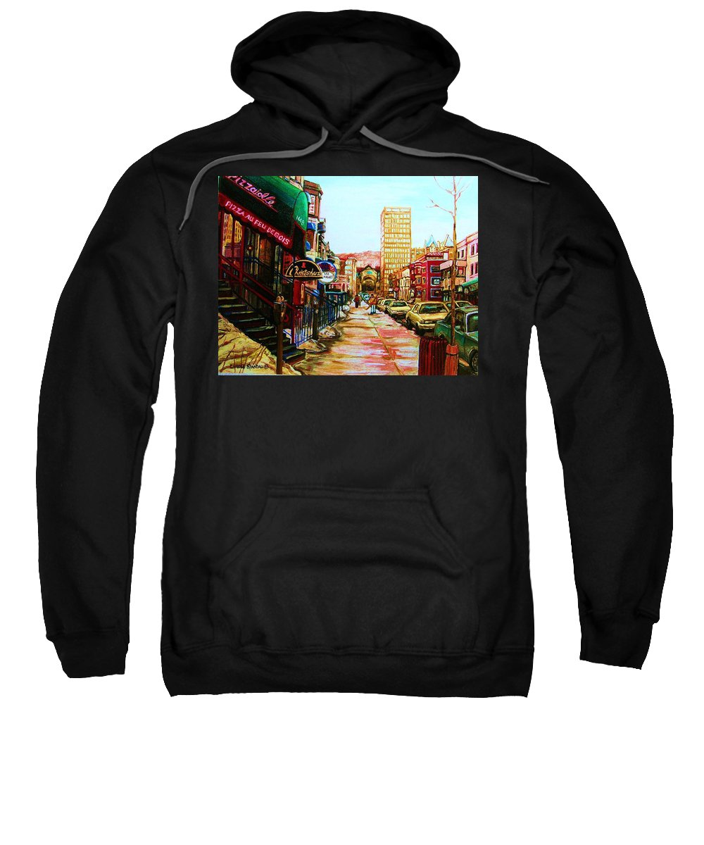 Hardrock Cafe Sweatshirt featuring the painting Hard Rock Cafe by Carole Spandau