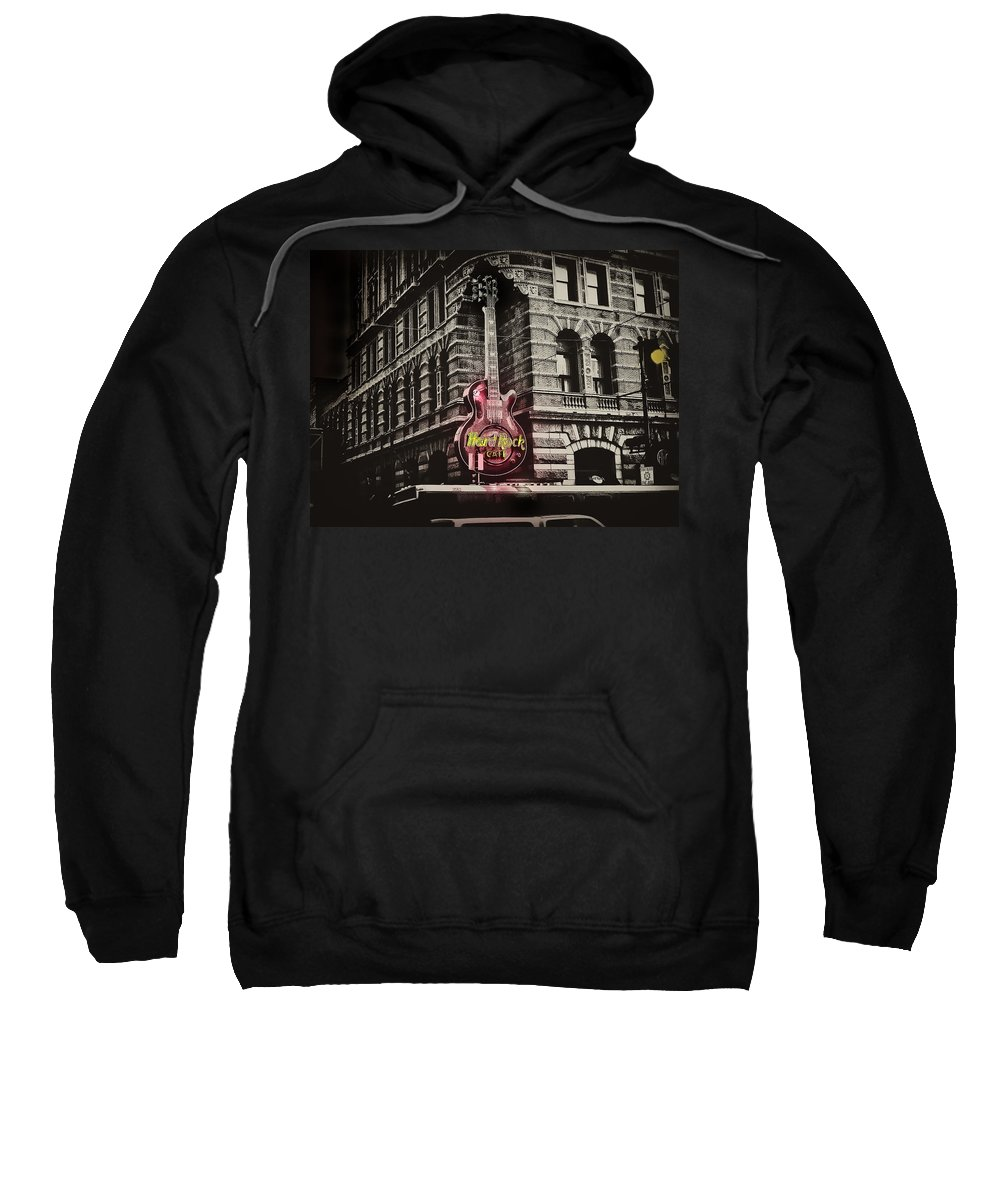 Philadelphia Sweatshirt featuring the photograph Hard Rock Philly by Bill Cannon