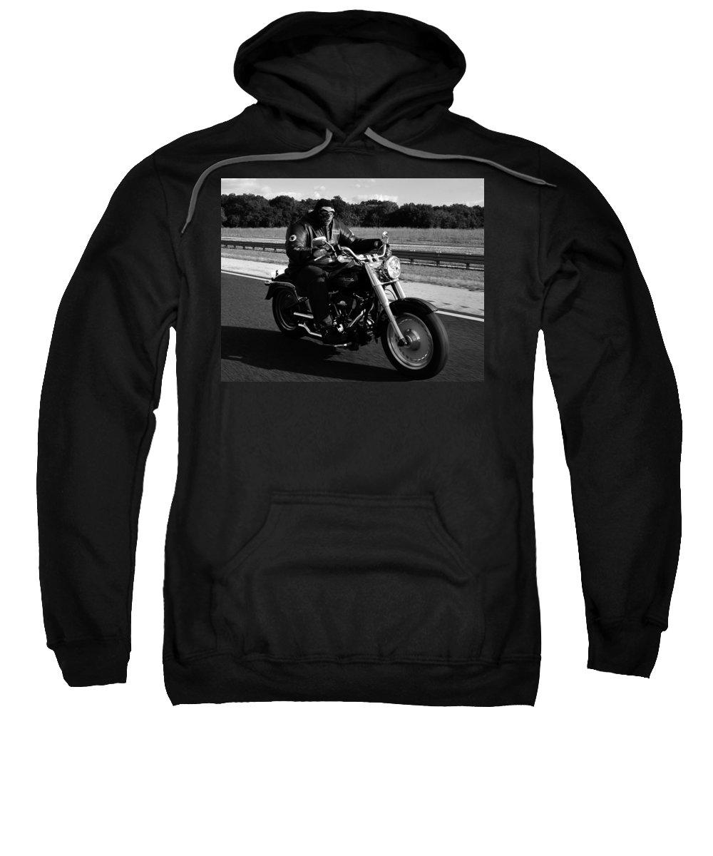 Harley Davidson Sweatshirt featuring the photograph Harley Man by David Lee Thompson