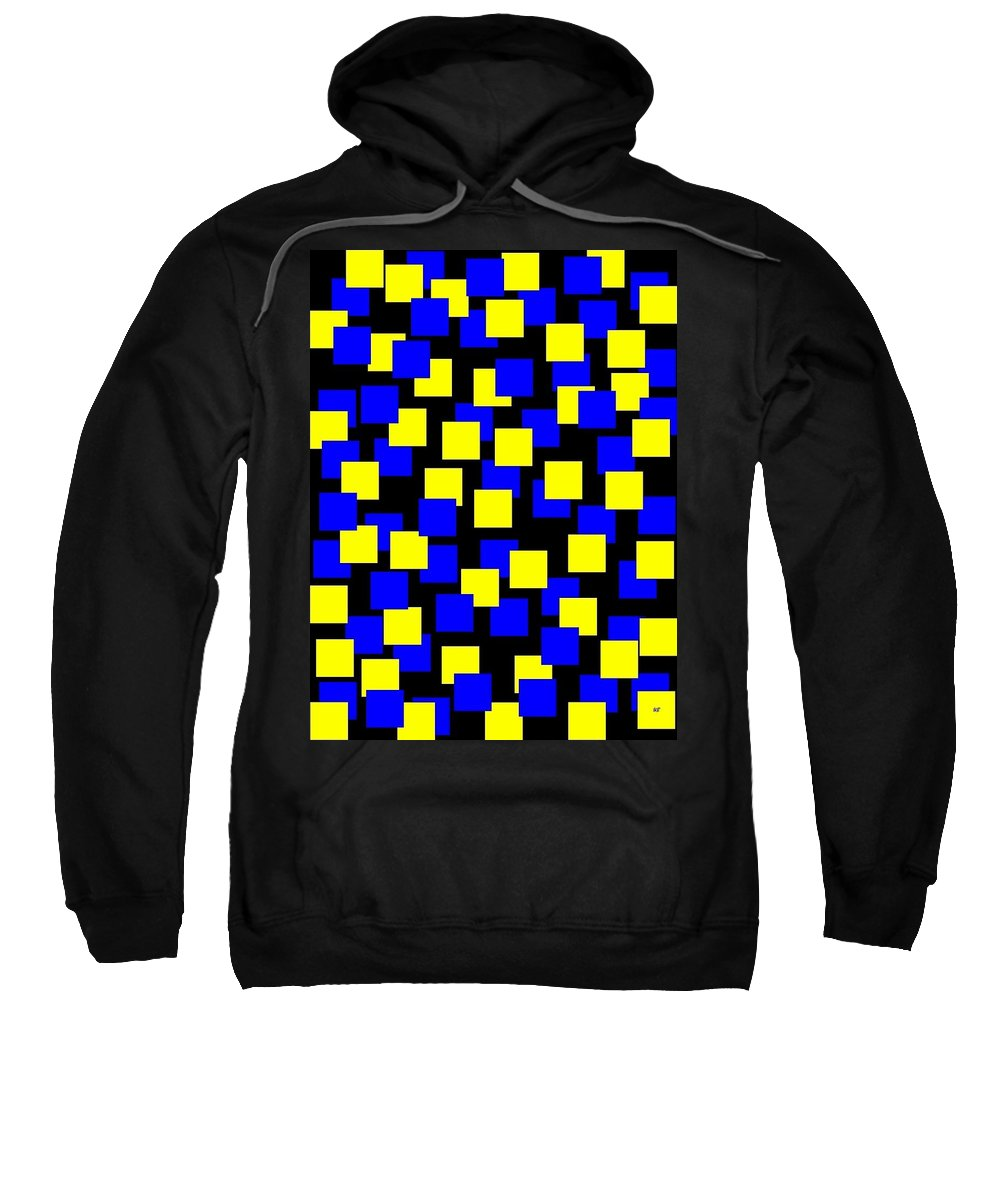 Abstract Sweatshirt featuring the digital art Harmony 1 by Will Borden